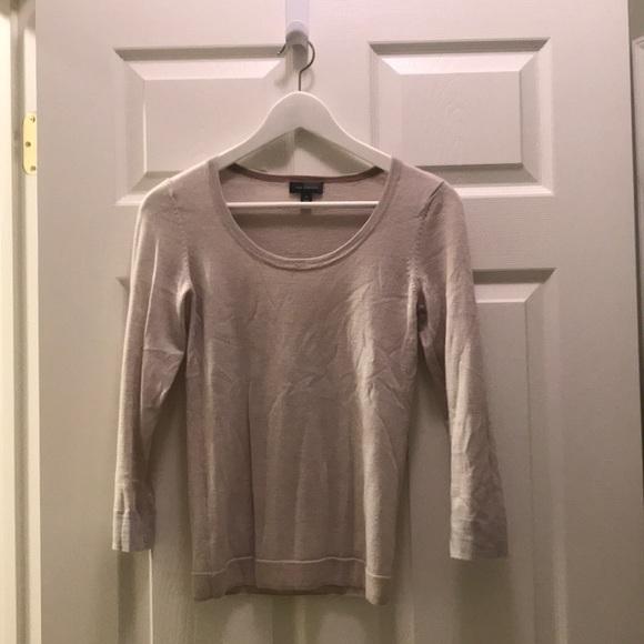 Sweaters - Beige Scoopneck Sweater